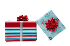 Christmas presents on a white background Stock Photo