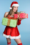 Christmas Presents Woman Royalty Free Stock Photos