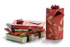 Christmas presents wrapped Royalty Free Stock Photos