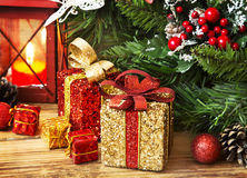 Christmas Presents Wrapped Stock Images