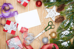 Christmas presents wrapping Stock Images