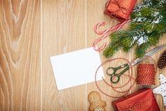 Christmas presents wrapping Stock Photos