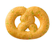 Christmas Pretzel Cookie with sprinkles Stock Photo