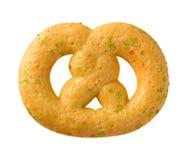 Christmas Pretzel Cookie with sprinkles Stock Photo