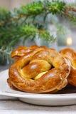 Christmas pretzel Royalty Free Stock Photos