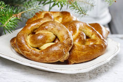 Christmas pretzel Stock Photos