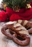 Christmas Pretzel Stock Photo