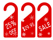 Christmas price tag Stock Photo