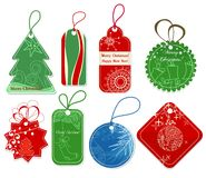 Christmas price tags. A set of price tags in Christmas colors Royalty Free Stock Photo