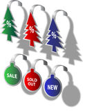Christmas price tags Royalty Free Stock Images