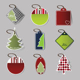 Christmas price tags Stock Image
