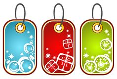 Christmas price tags Stock Photography