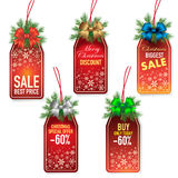 Christmas price tags Stock Photos
