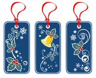 Christmas price tags set Royalty Free Stock Photography