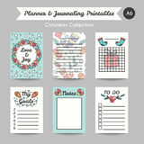 Christmas Printable Journaling Cards. Line Style Jornal Pages. Christmas Printable Journaling Cards. Line Style Bullet Jornal Pages with Winter Season stock illustration