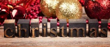 Christmas printer blocks Stock Image