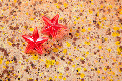 Christmas prism stars on recycled pape Stock Image