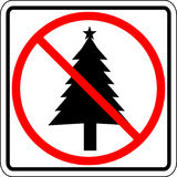 Christmas prohibited vector sign Stock Photos