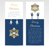 Christmas promotion card design Stock Image