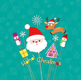 Christmas props card Stock Photography