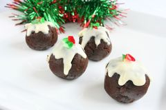 Christmas pudding. On white backgruond stock photo