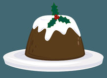 Christmas Pudding. A yummie Christmas pudding vector illustration