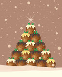 Christmas pudding background Stock Images