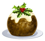 Christmas Pudding Cake Stock Images