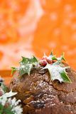 Christmas Pudding with Copyspace royalty free stock photo