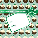 Christmas pudding gift Stock Photo