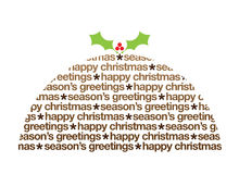 Christmas pudding greetings illustration Stock Photography