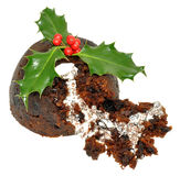 Christmas Pudding And Holly Royalty Free Stock Images
