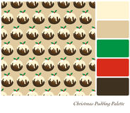 Christmas pudding palette Stock Photo