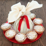 Christmas Pudding and Pies Stock Photography
