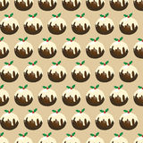Christmas pudding seamless Royalty Free Stock Photo