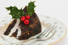 Christmas Pudding Slice Royalty Free Stock Photography