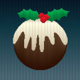 Christmas Pudding in Stripes Stock Images