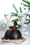 Christmas Pudding Table Stock Image