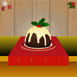 Christmas pudding on the table Royalty Free Stock Images