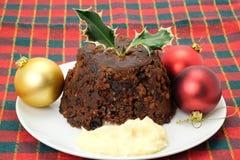 Christmas pudding Stock Photos