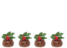 Christmas puddings Royalty Free Stock Images