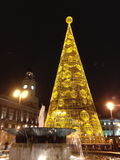 Christmas in Puerta del Sol. Center of the city in Madrid, Spain Stock Photos