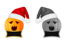 Christmas pumpkin head  Royalty Free Stock Photography