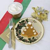 Christmas Pumpkin Pie Stock Images