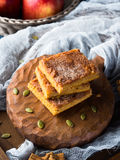 Christmas pumpkin spiced blondies. Vertical Royalty Free Stock Photography