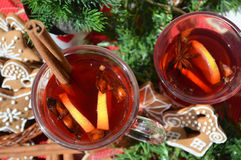 Christmas punch Royalty Free Stock Photo