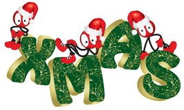 Christmas puppet Stock Images