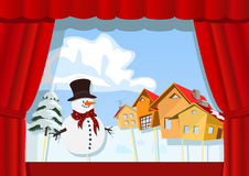 Christmas puppet theater Royalty Free Stock Photography