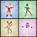 Christmas puppets. Cute illustration of Christmas puppets Stock Photography