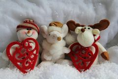 Christmas puppets Royalty Free Stock Image